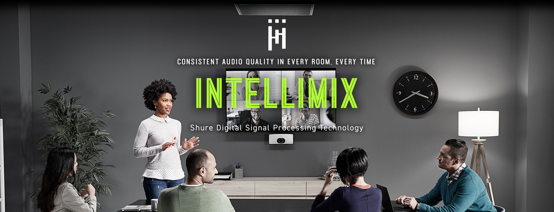 Shure IntelliMix - Consistent audio quality in every room every time